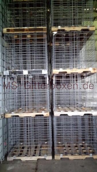 IBC GB 1000L Holz PE Stahl Feinmaschig